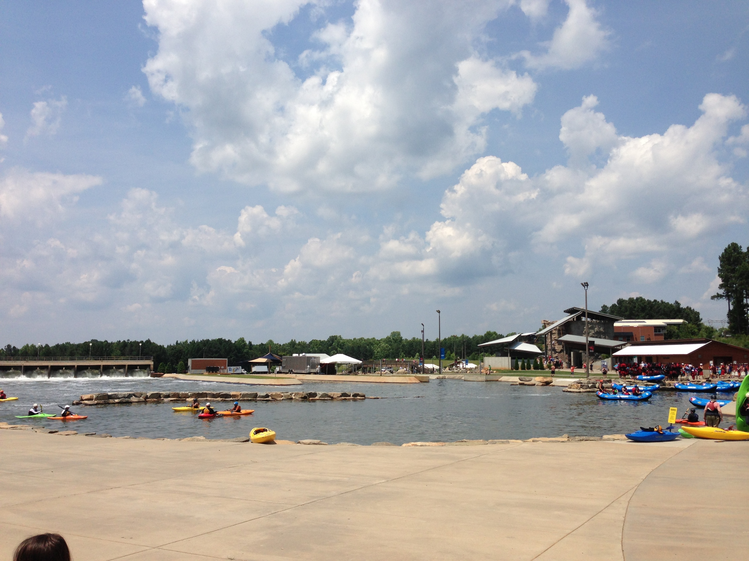 The whitewater area at the WWC