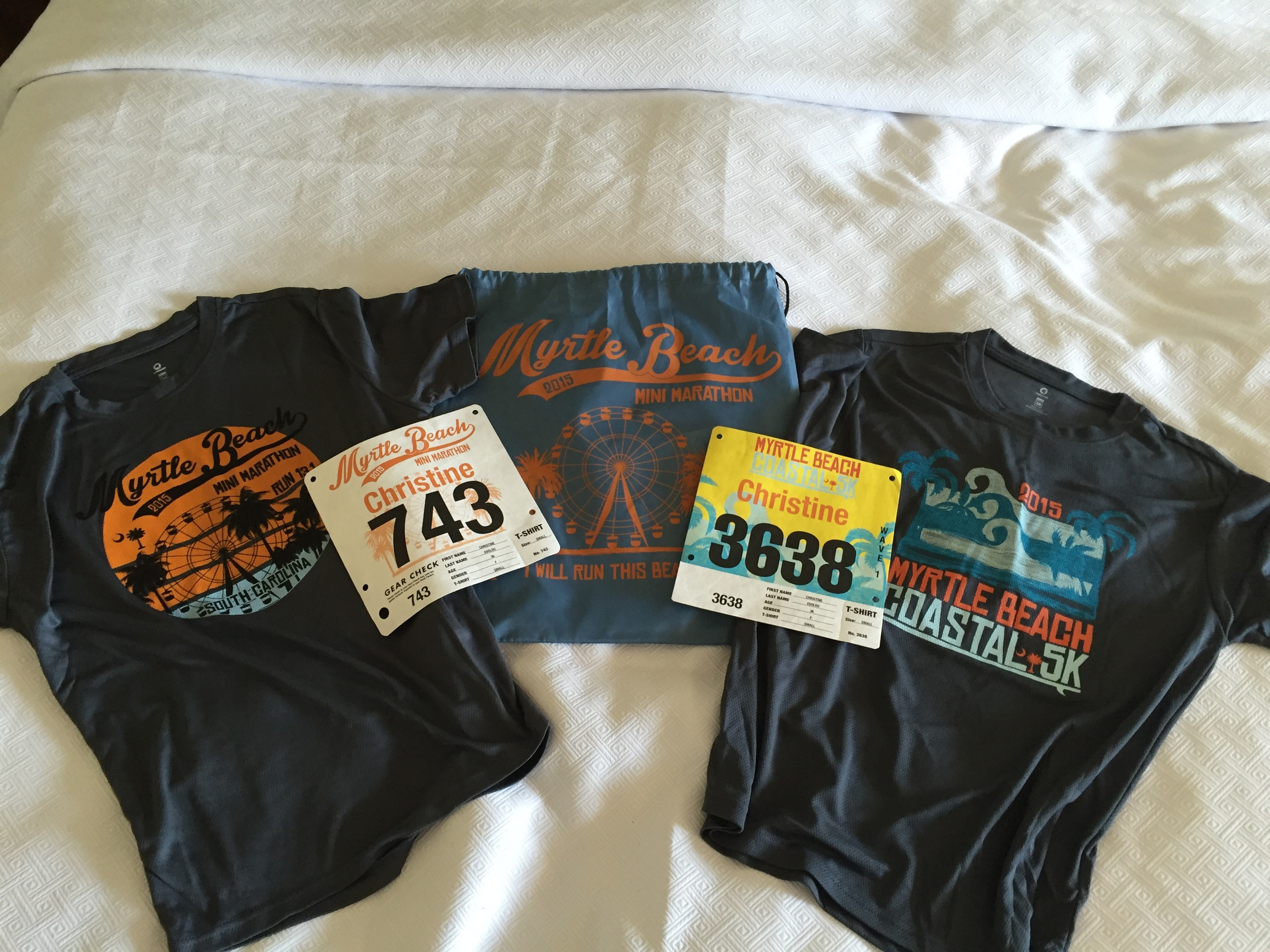 race shirts and bibs