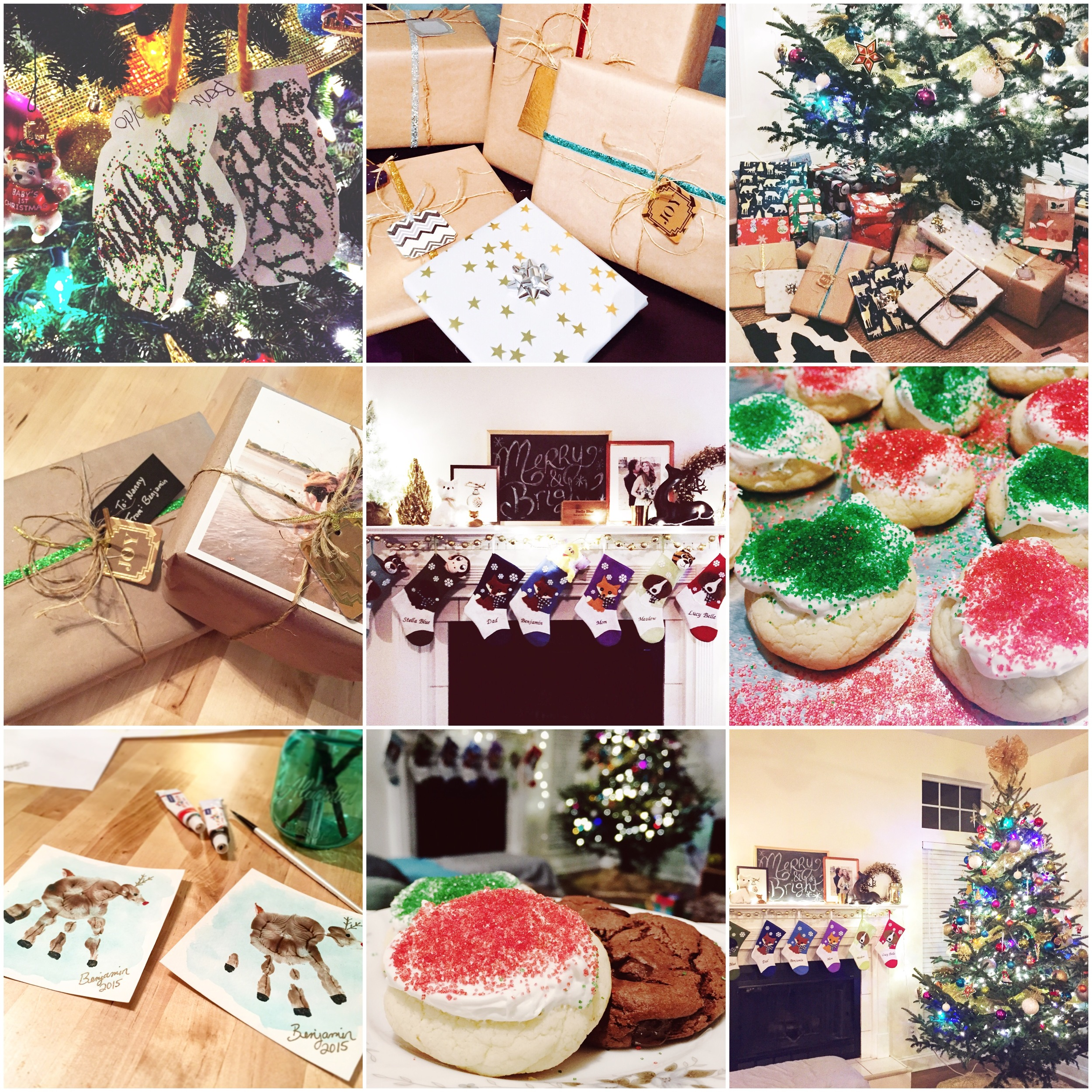 Our Christmas decorations, crafts, and cookies!