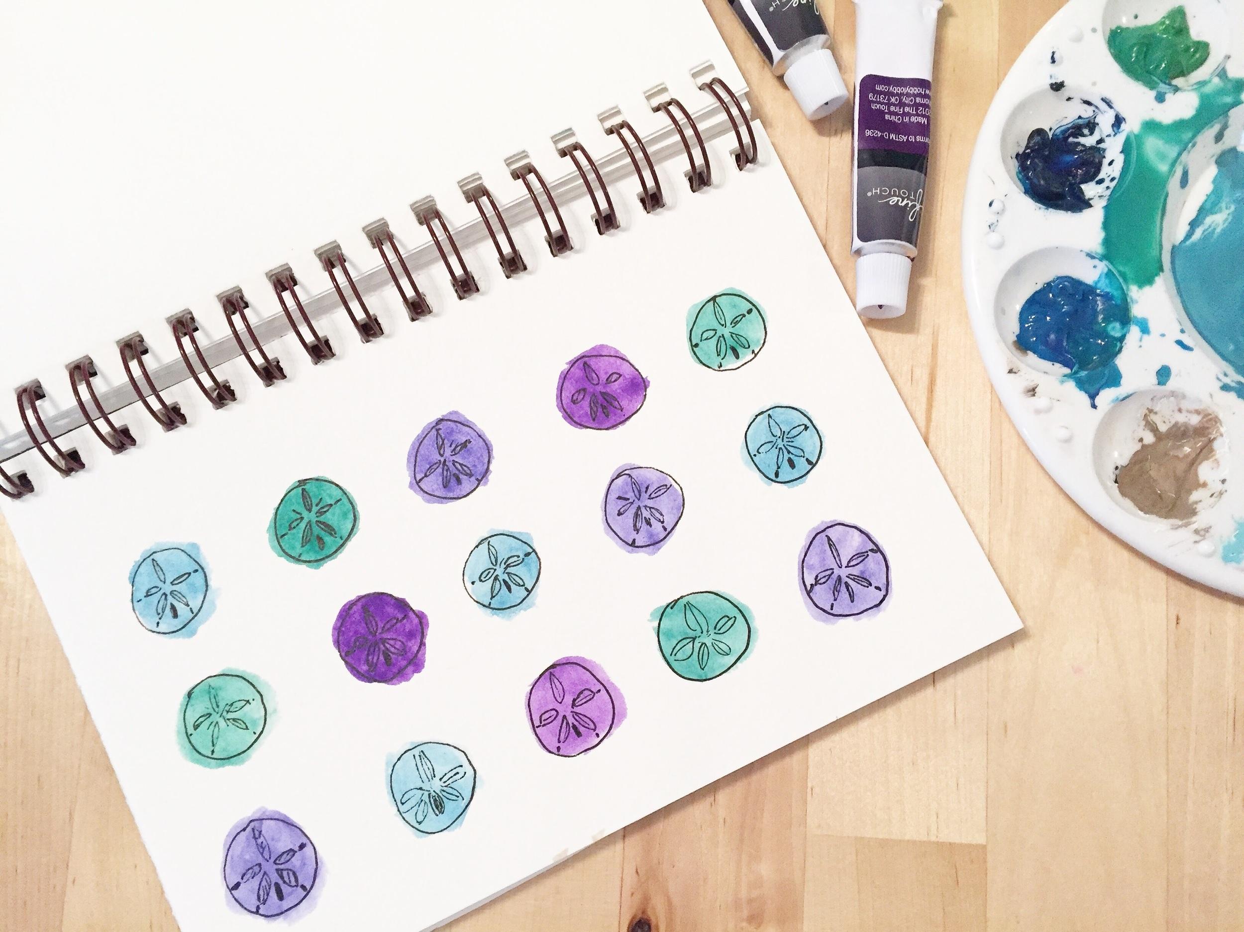 Sand-dollar-watercolor-pattern
