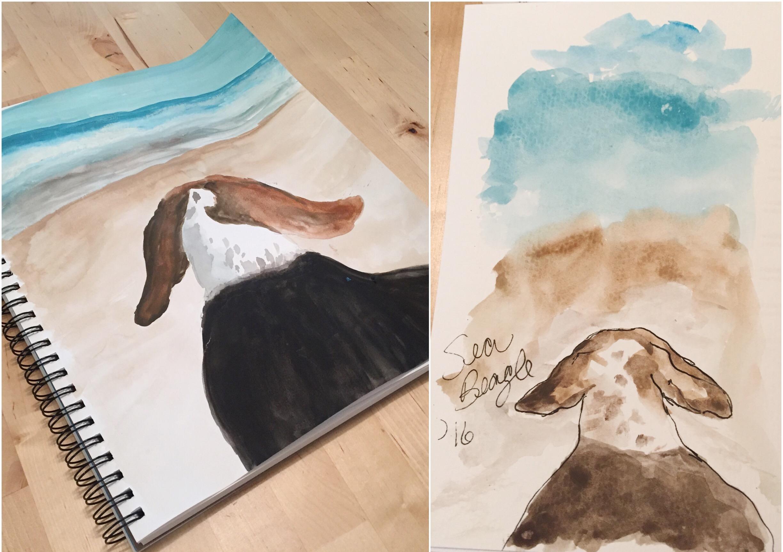 beach-beagles-quick-sketches