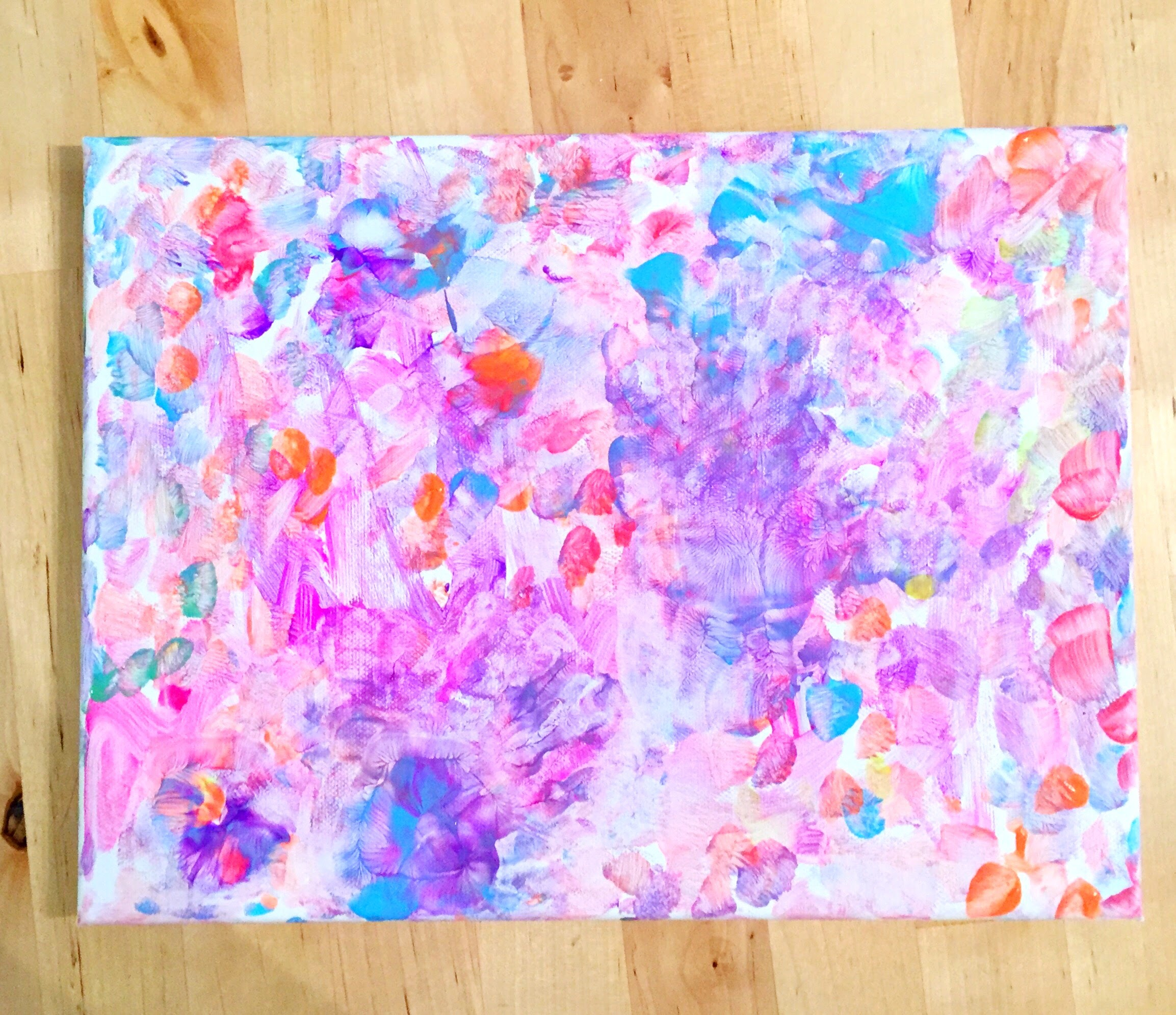 A little B and MOm original - Abstract Painting collaboration with my toddler (HOBBIES!)