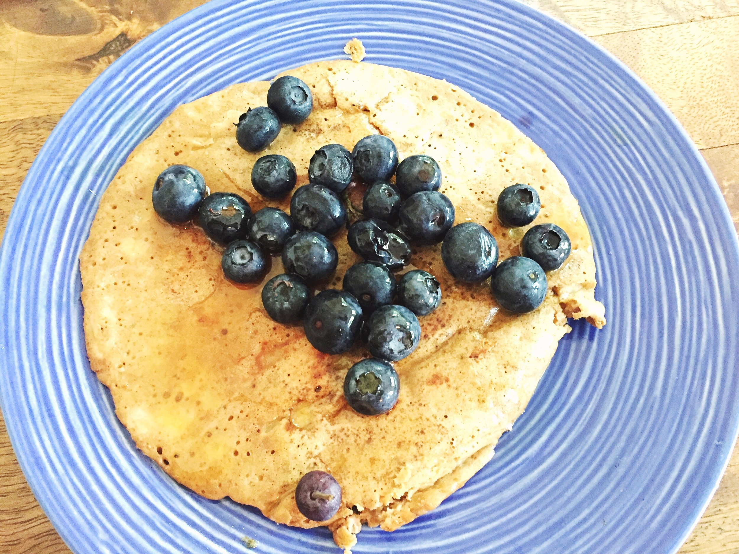 Protein pancake for breakfast - Delicious!