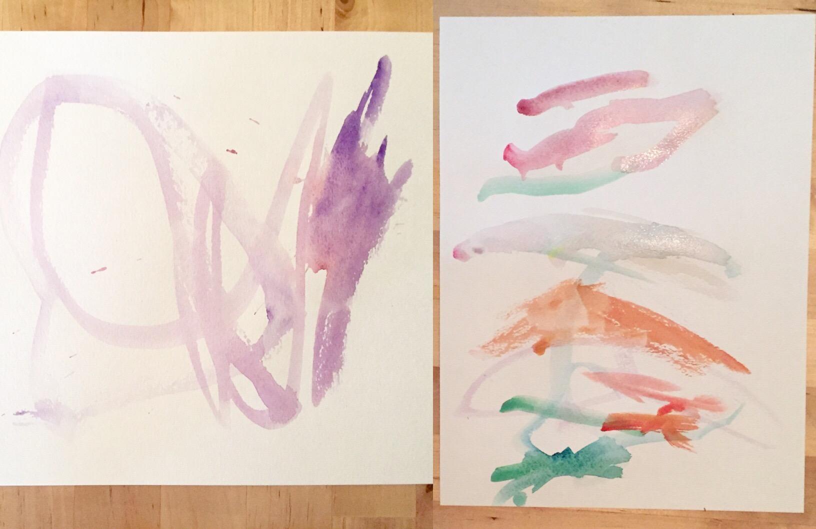 B's watercolors