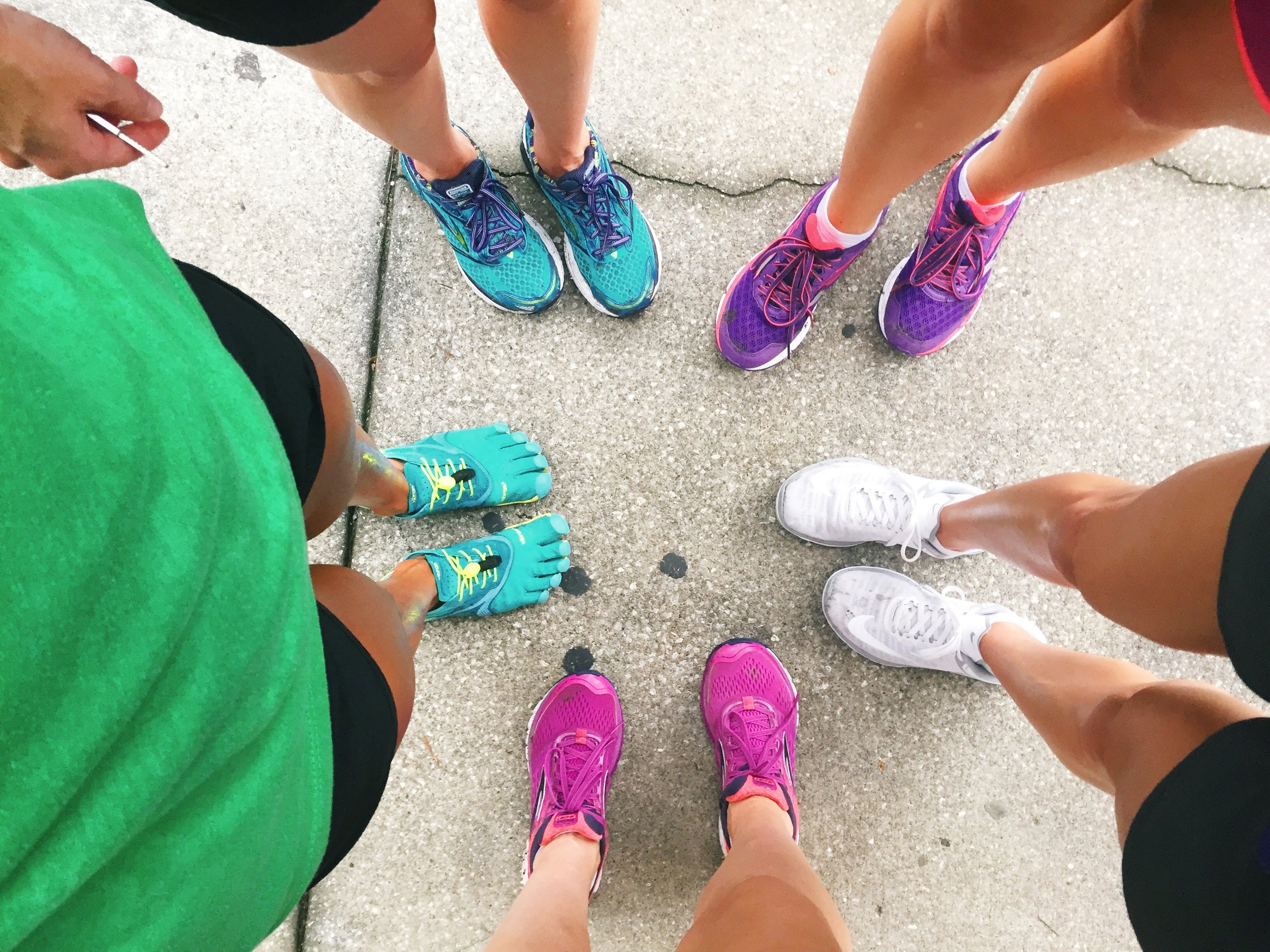 Colorful running shoes!