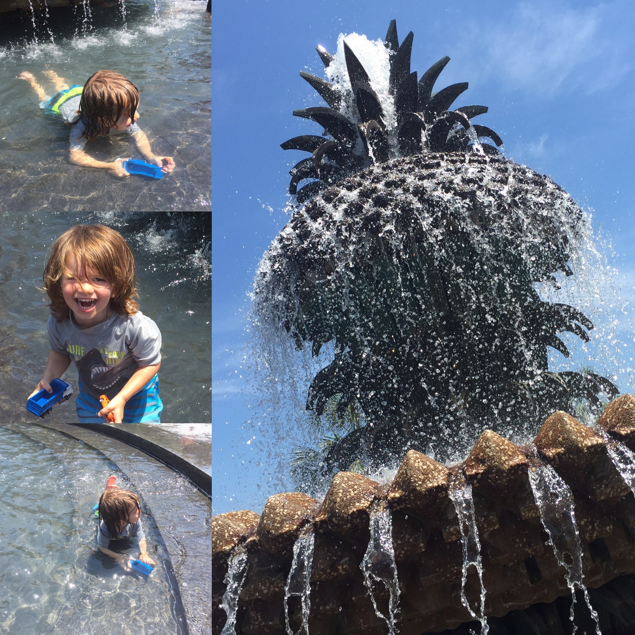 Pineapple Fountain Fun