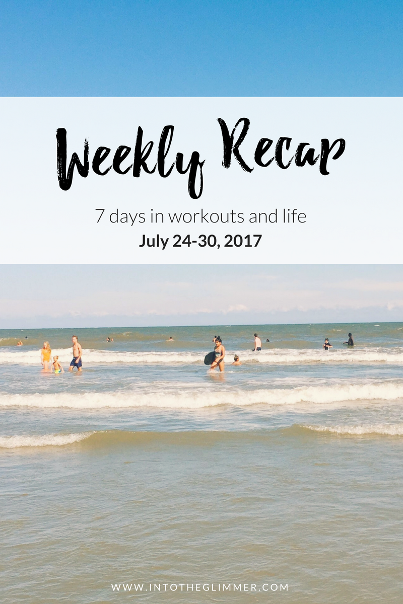 weekly workouts july 24-30