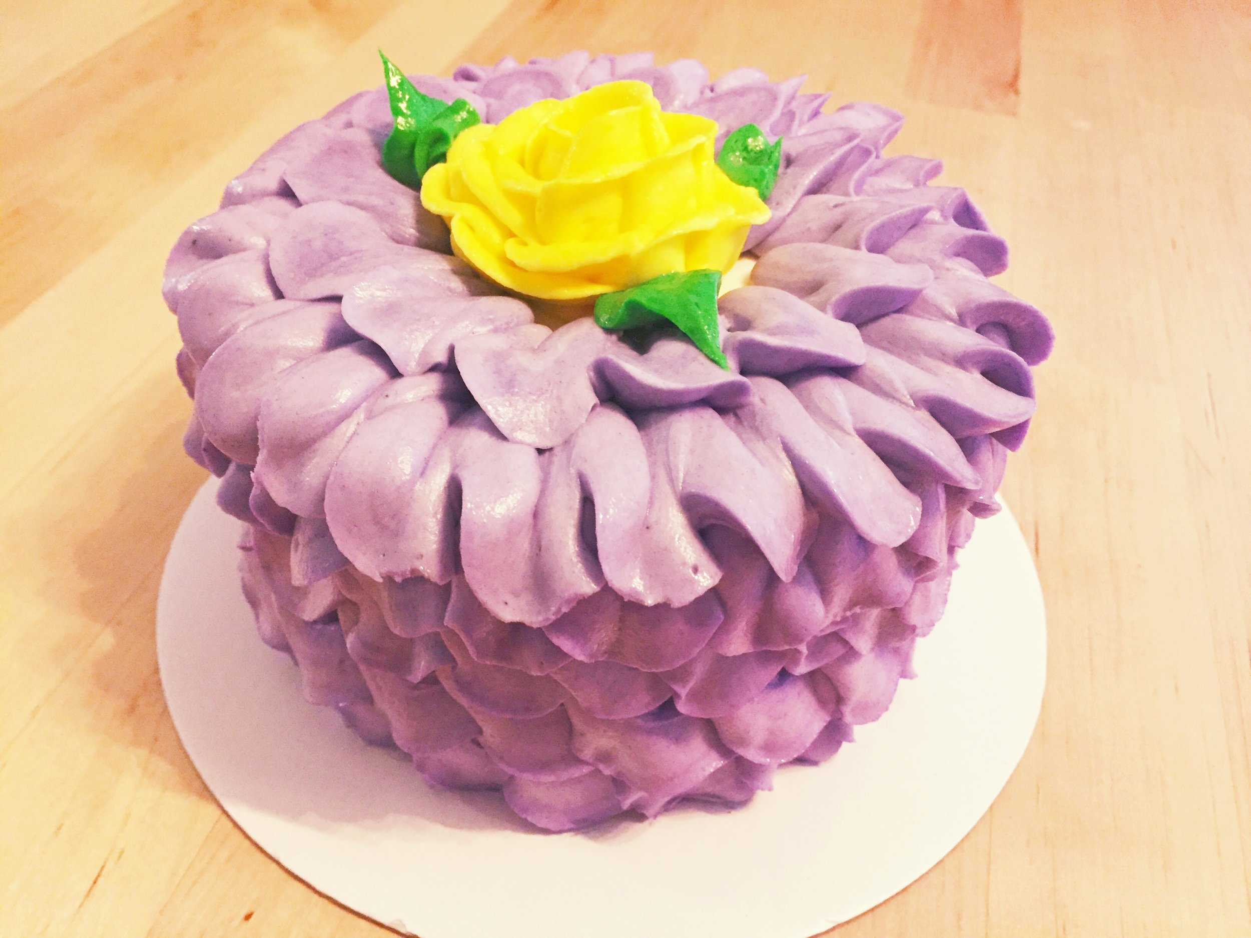 My Purple Flower birthday cake