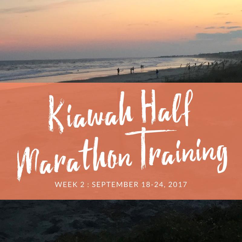kiawah half marathon training week 2
