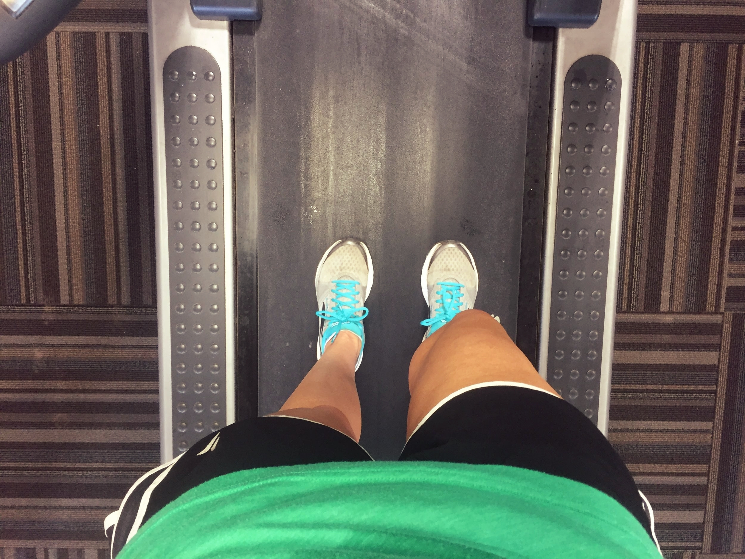Treadmilling at the gym