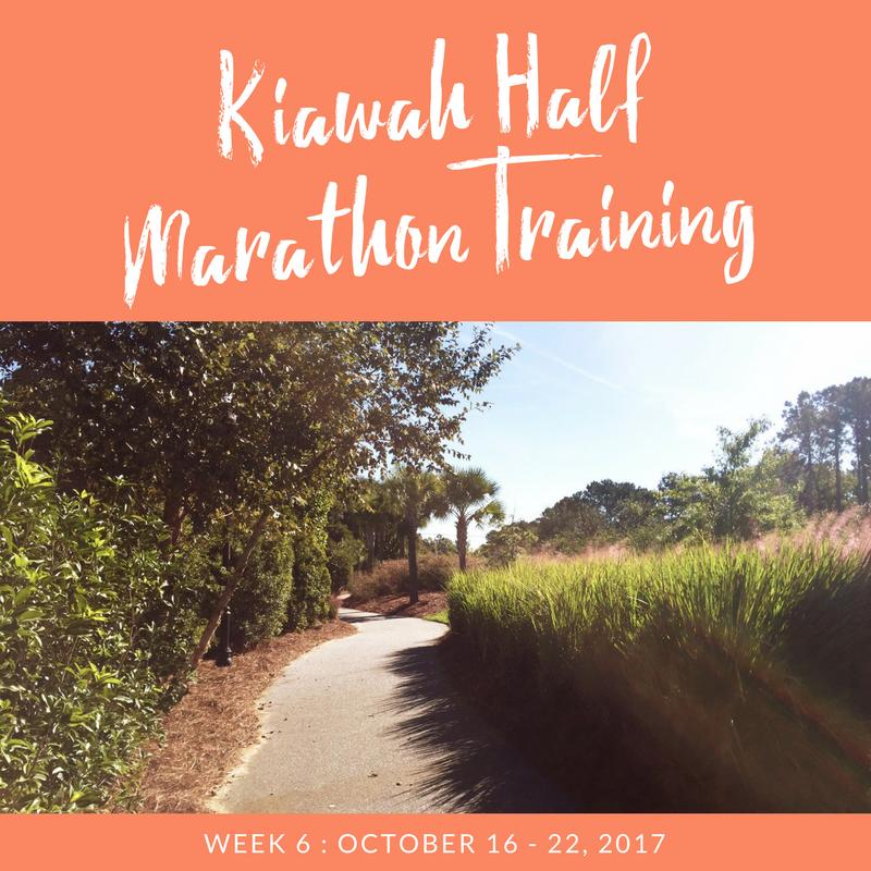 kiawah half training - week 6