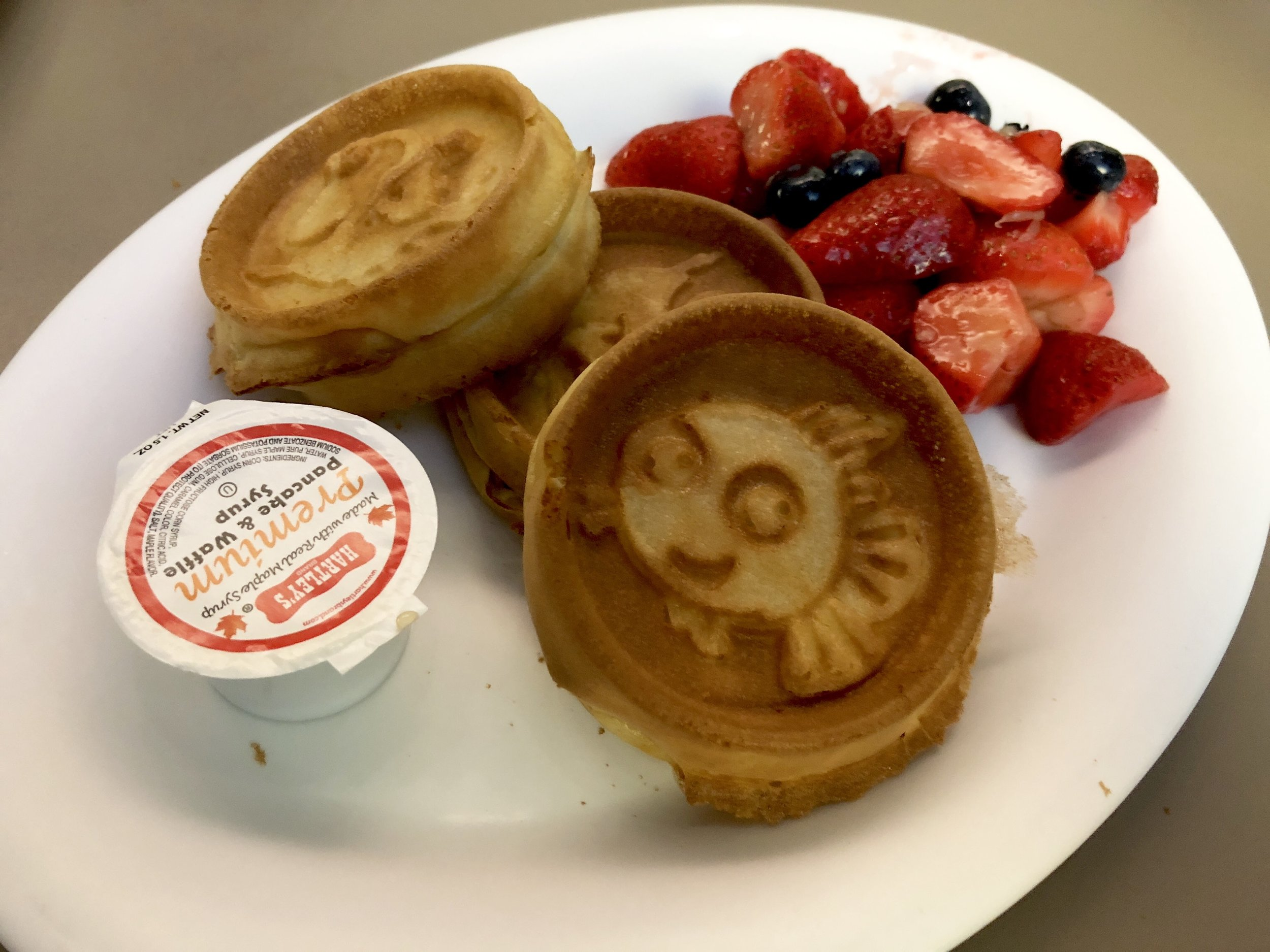 It's not a Disney breakfast without character waffles