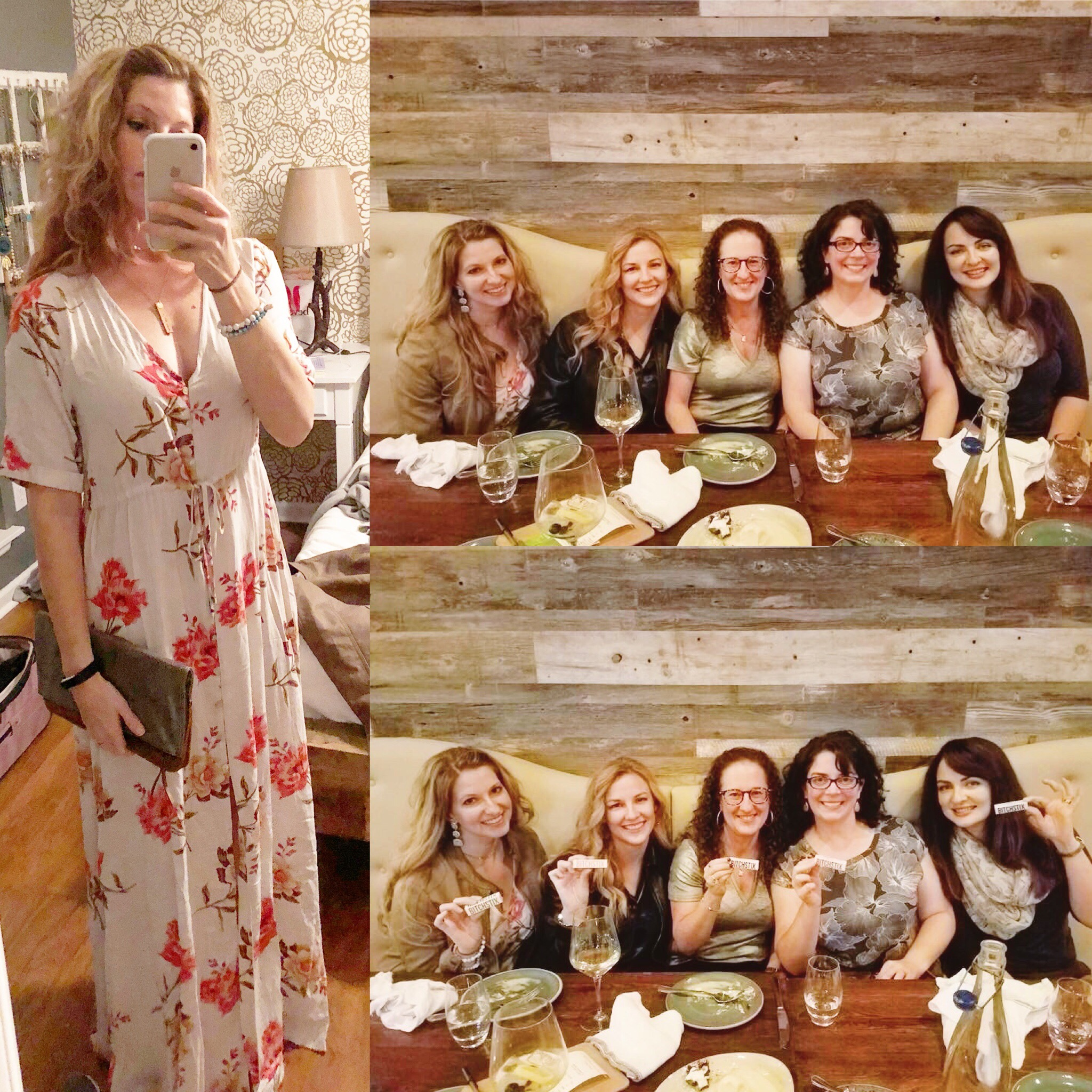 A fun time at girls night out (and me in non-running gear)