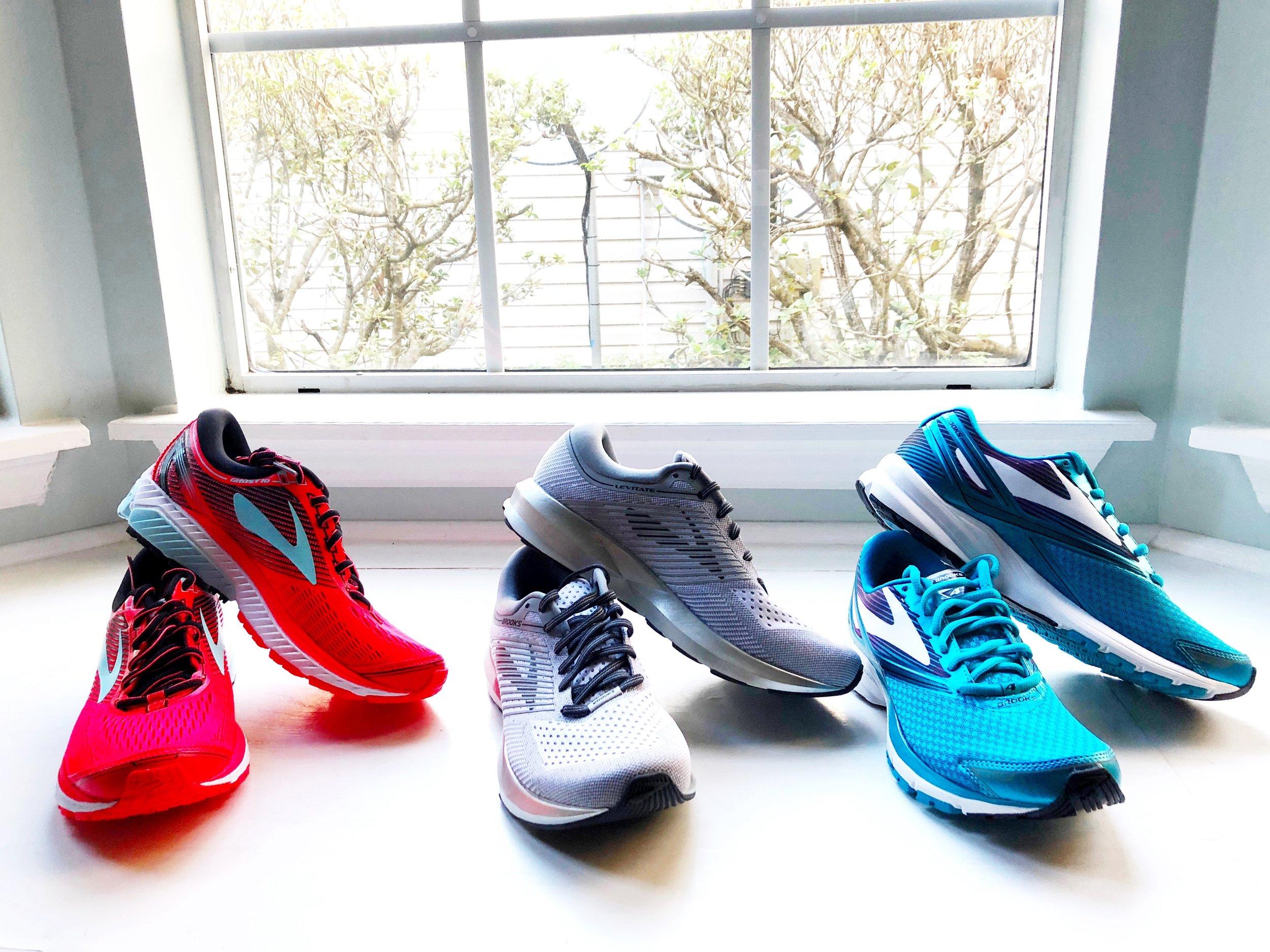 New Running shoes - Brooks Ghost, Brooks Levitate (LOVE!), Brooks Launch
