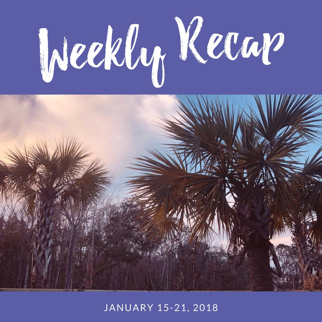 weekly recap january 15-21