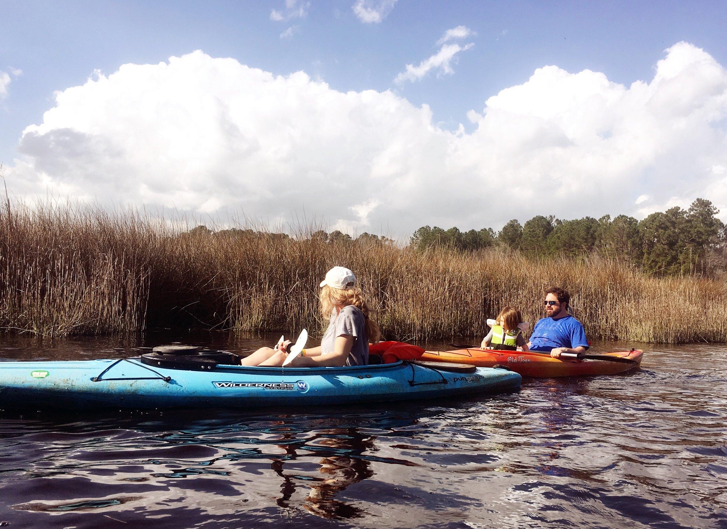 kayaking on the tidal creek