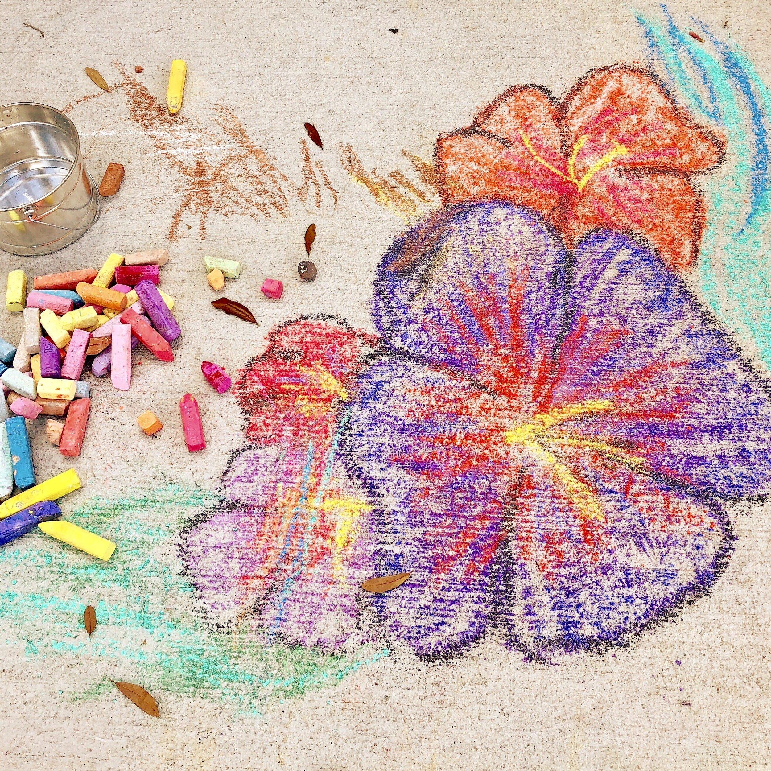 sidewalk chalk flowers