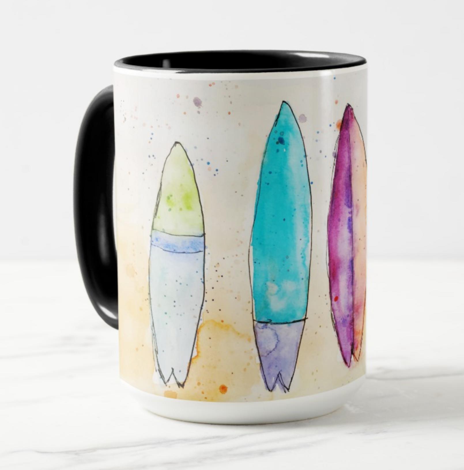 surfboard mug