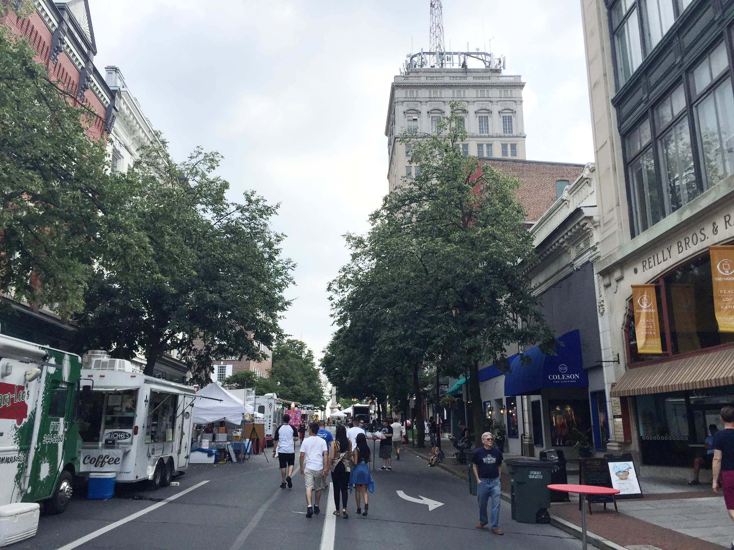 Queen Street in Downtown Lancaster during a street Festival