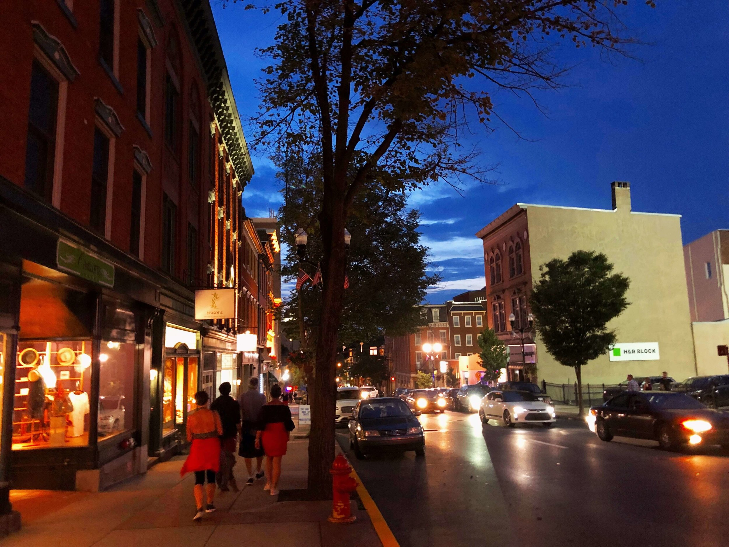 Nighttime on King Street