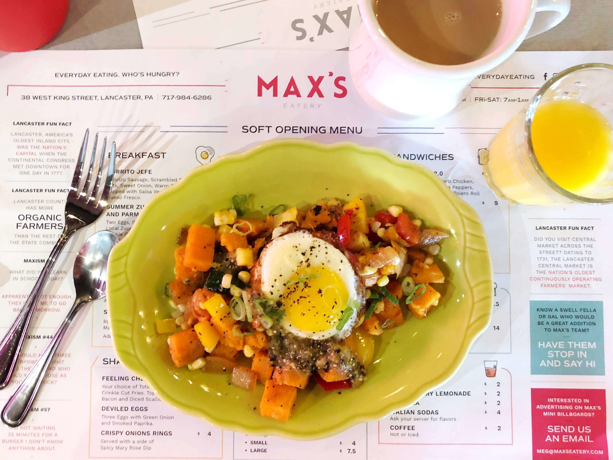 Breakfast at max's