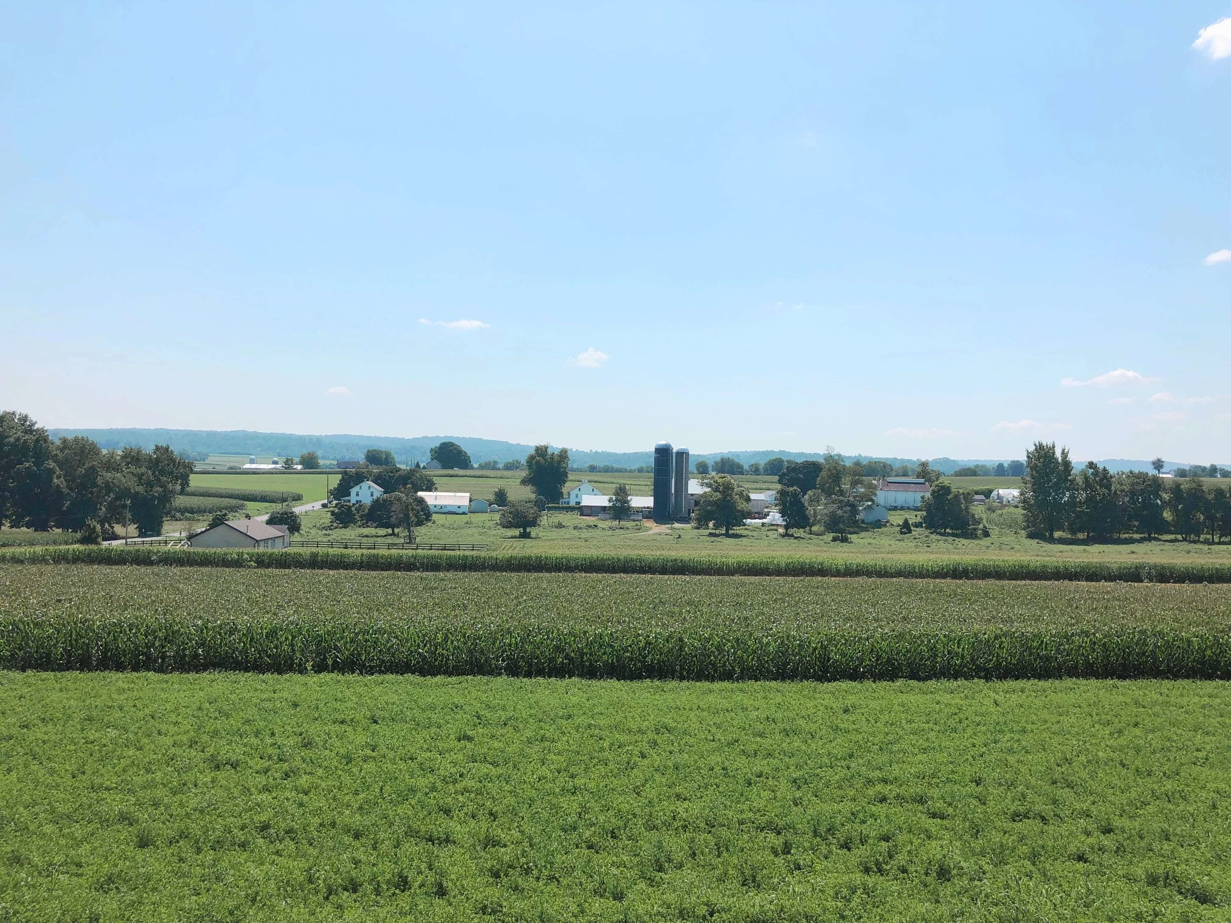 Views of the Lancaster County countryside from Strasburg Railroad