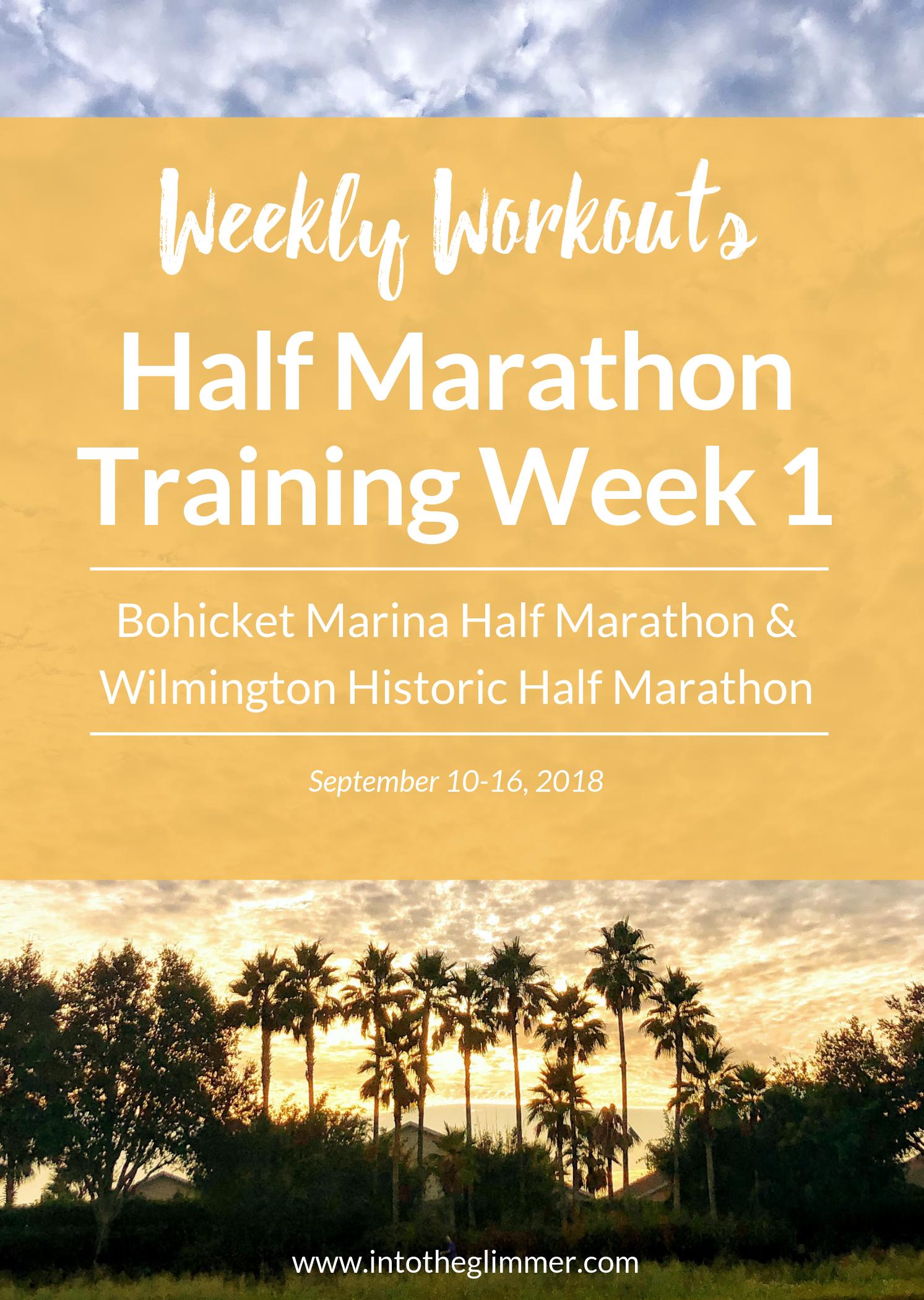 weekly recap fall 2018 half marathon training