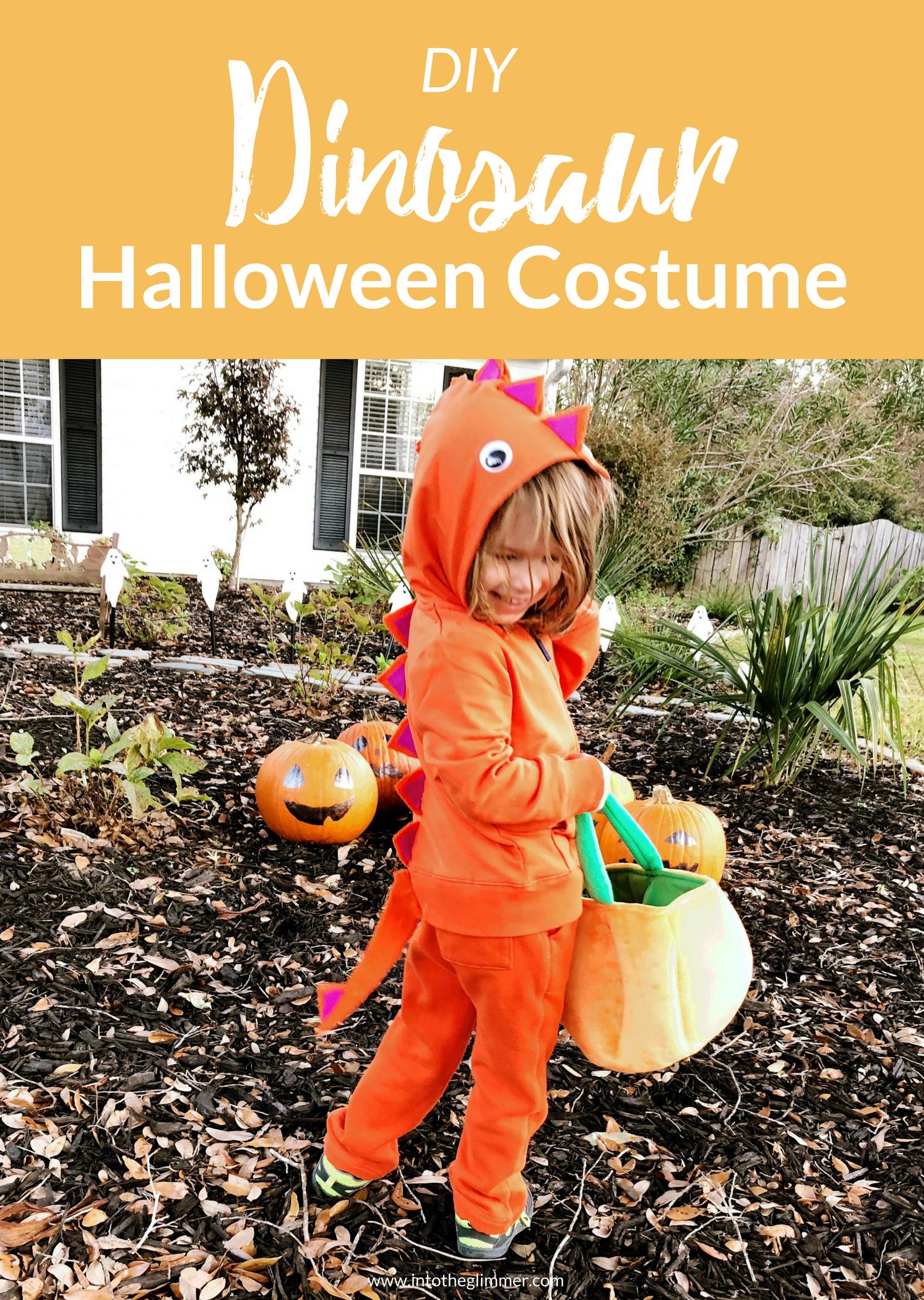 diy dinosaur halloween costume #halloween #diy