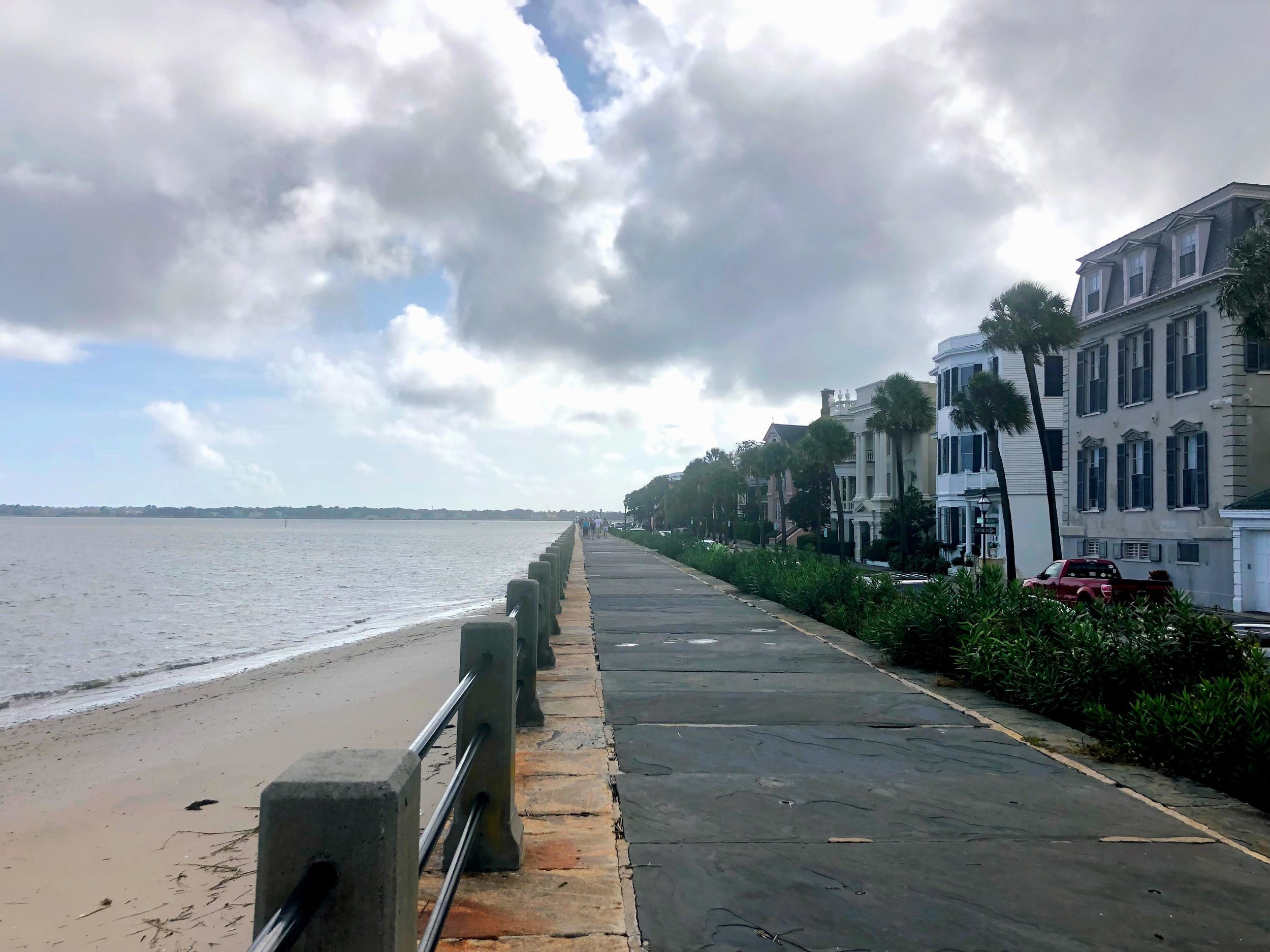 Taking my niece on a walking tour of downtown Charleston - The Battery