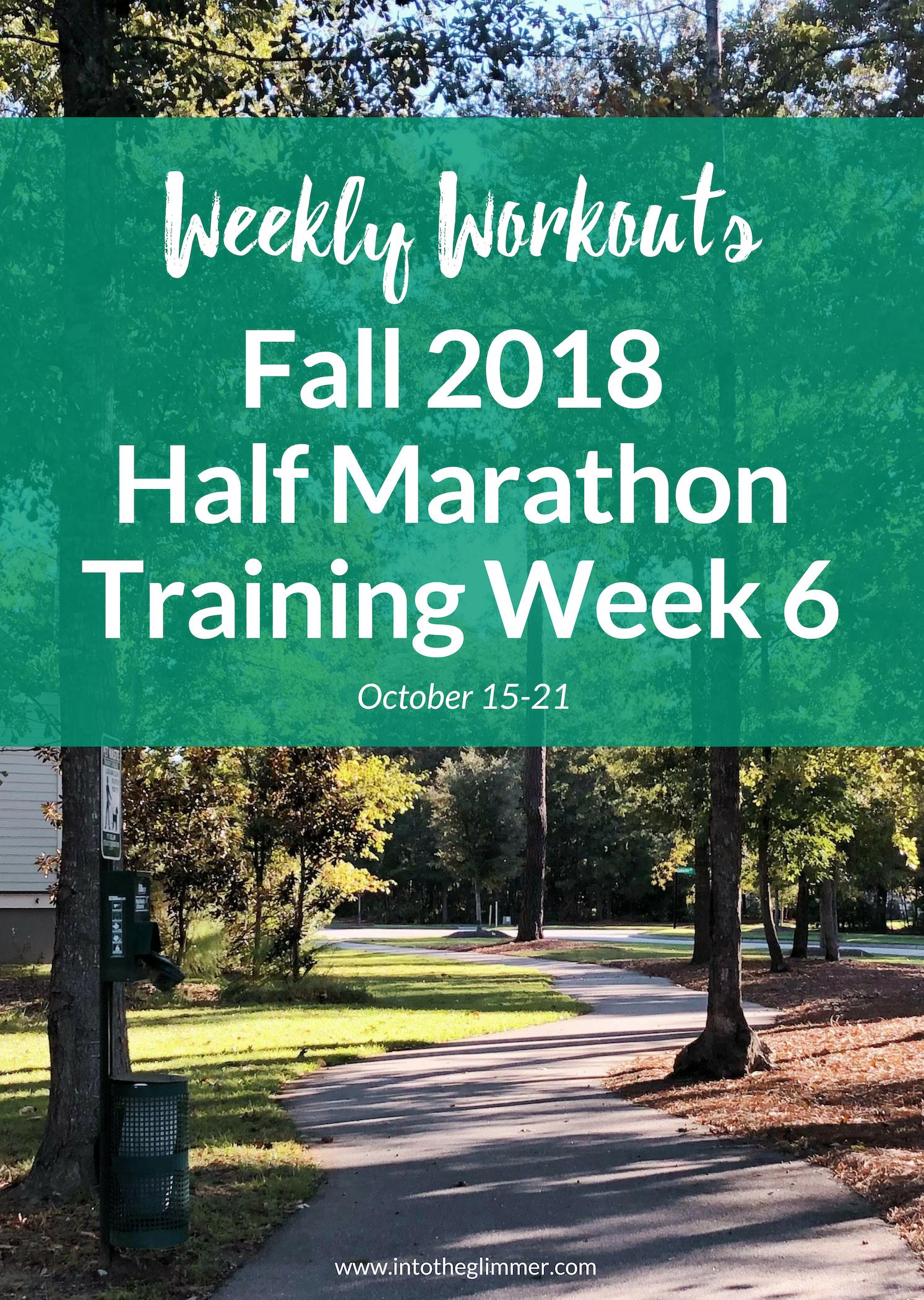 weekly workouts fall half marathon 2018 training