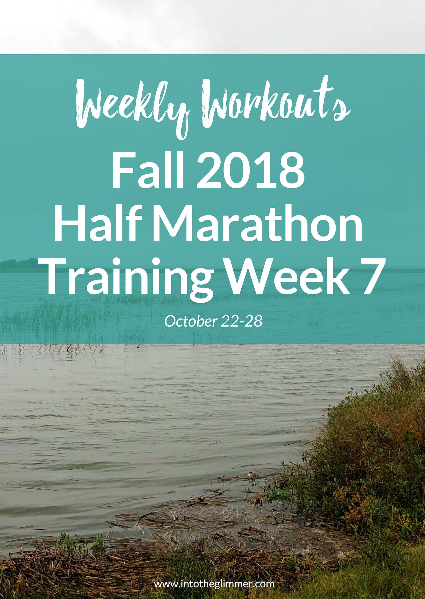 Weekly Workouts: Fall 2018 Half Marathon Training Week 7