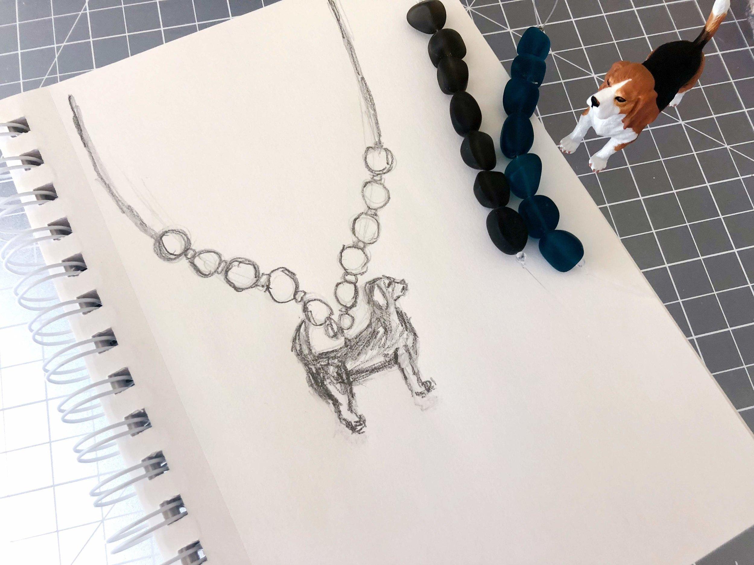 Beagle necklace idea 1