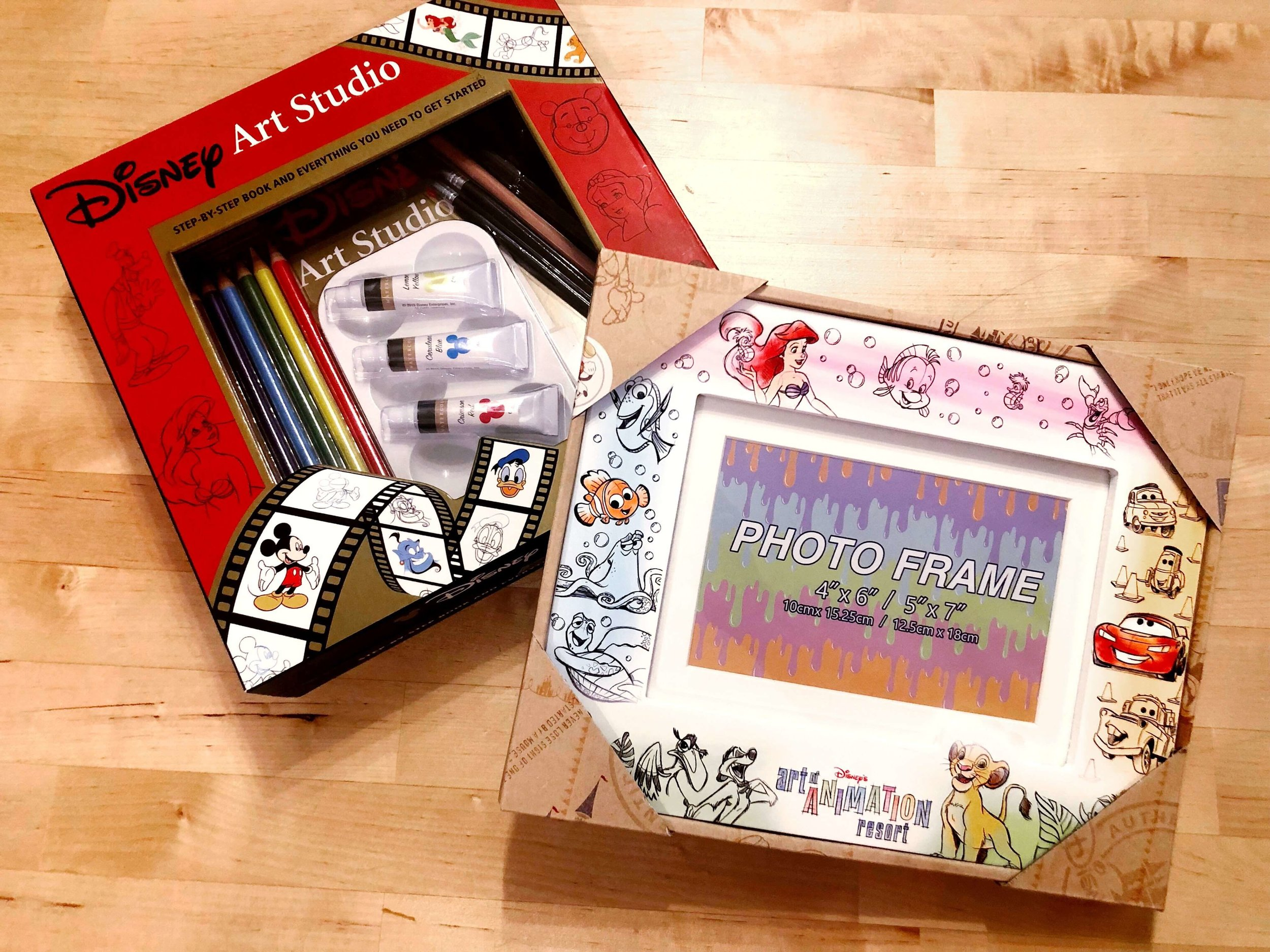 I love these souvenirs from Art of Animation! A drawing kit with instructions on how to draw tons of Disney characters (can't wait to do this with B!) and a picture frame.