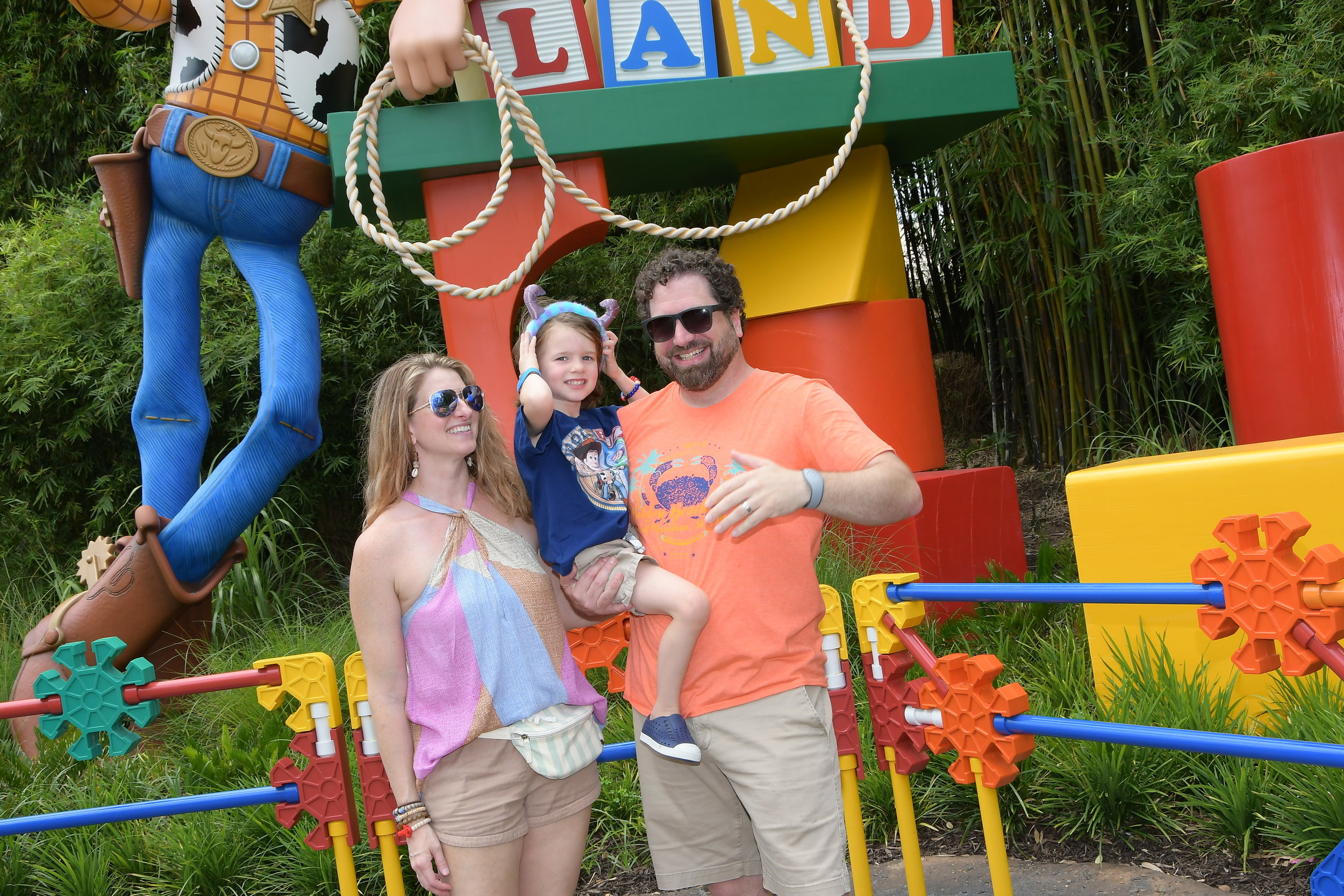Family photo in Toy Story Land