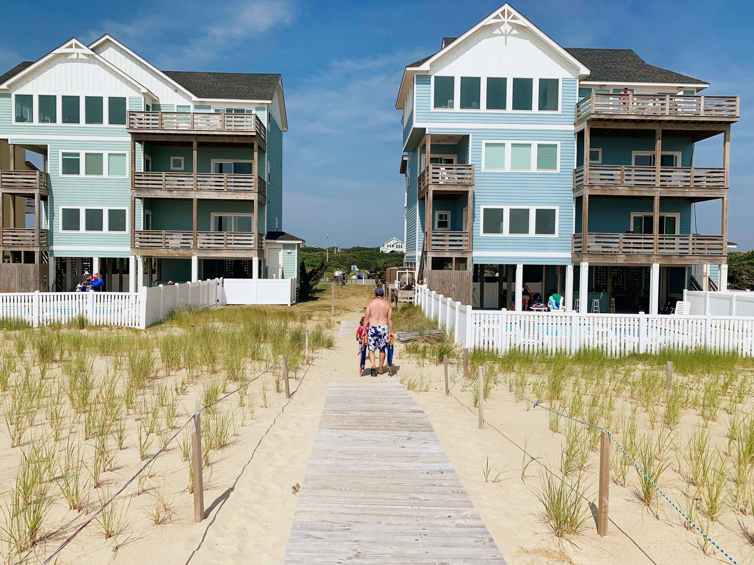 Path from the beach - outer banks, nc