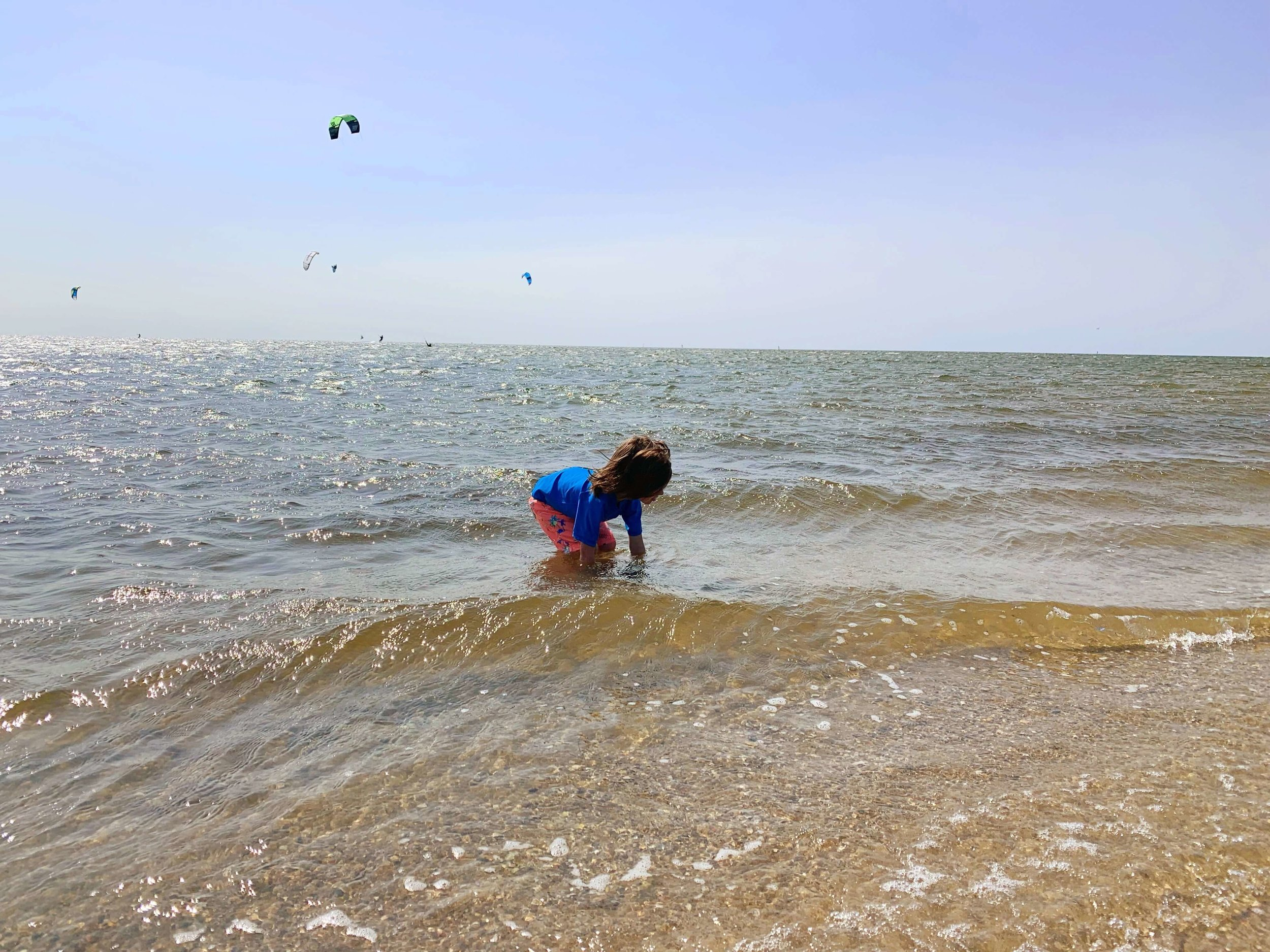 Playing in the Pamlico Sound, Buxton, NC