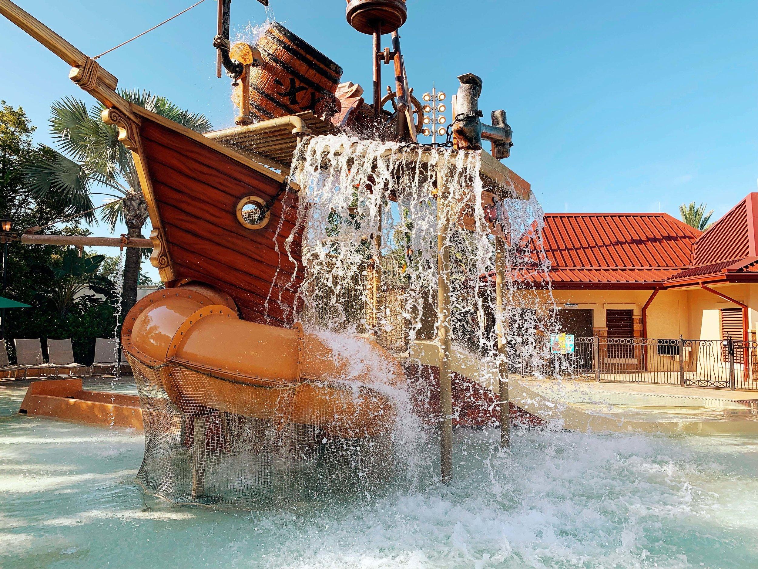 Disney's Caribbean Beach Resort Kids Splash Pad
