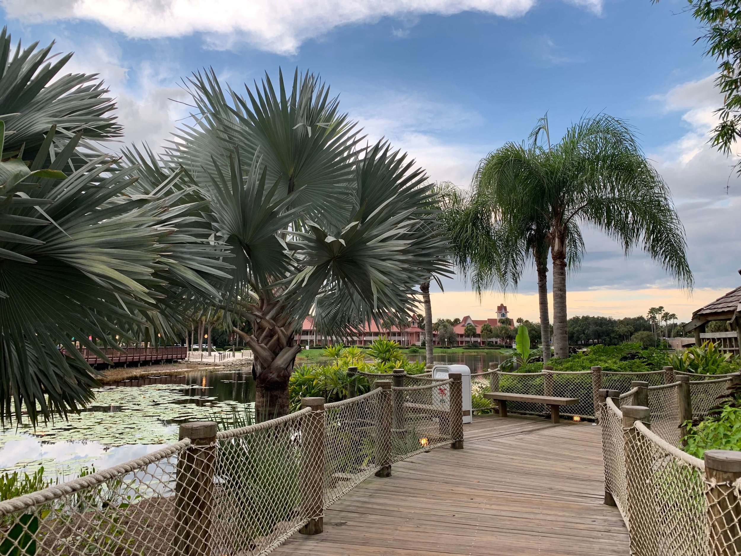 Disney's Caribbean Beach Resort walkway