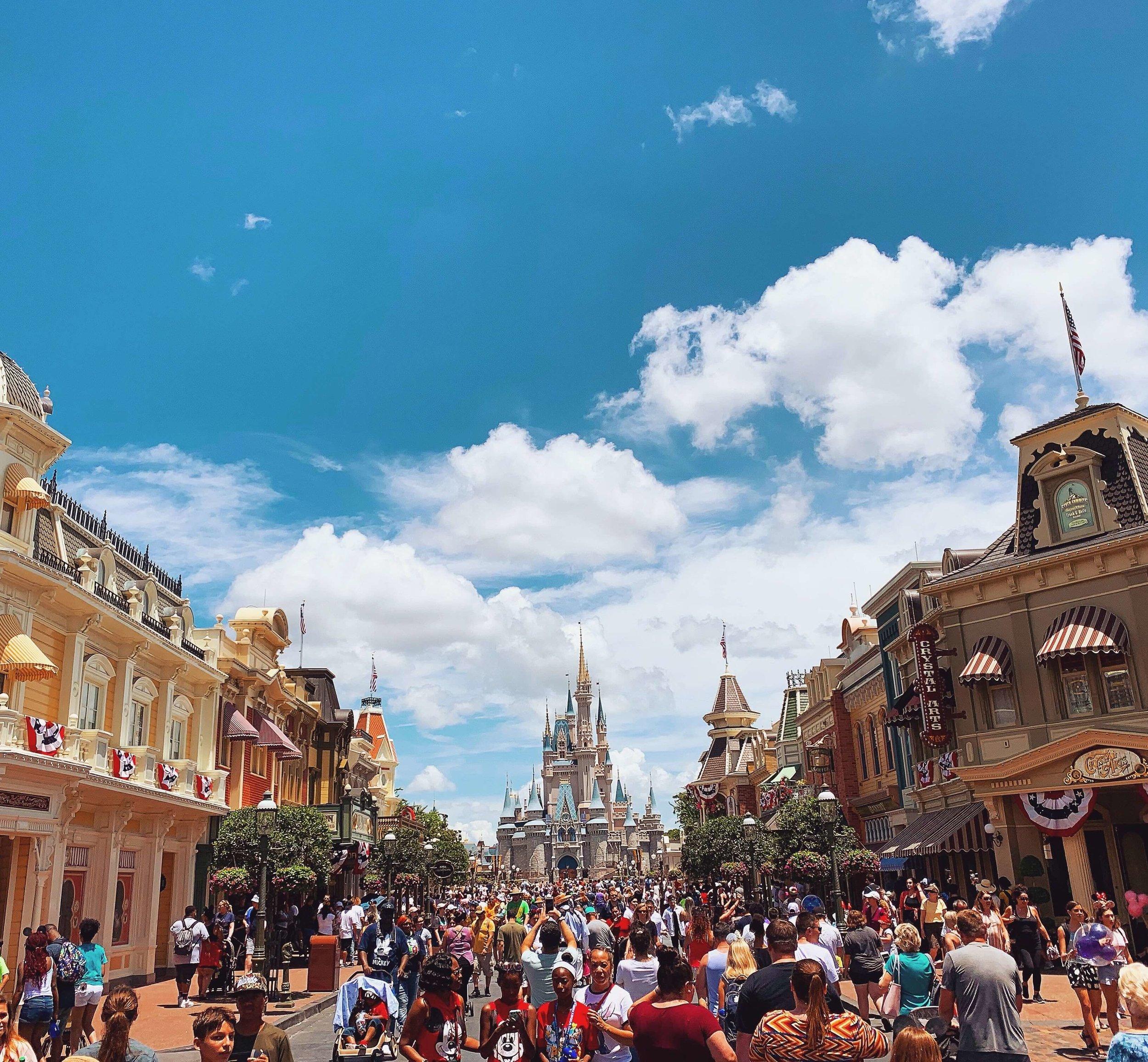 Cinderella's Castle from Main Street Magic Kingdom
