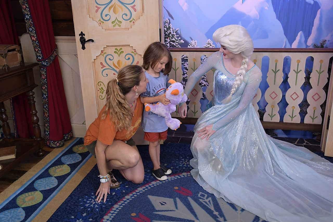 Meeting Elsa at Epcot (Frozen)