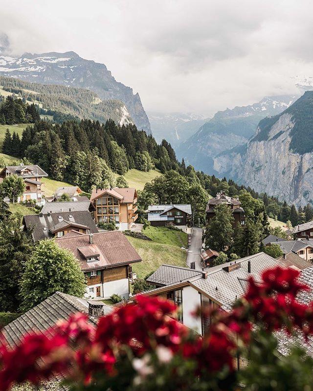 Little house on a big Swiss hill.