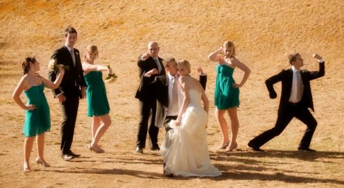 Check out the bridal party in action!