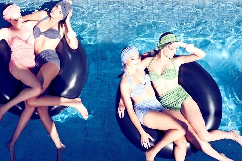 Australian wool swimsuits hit the pool