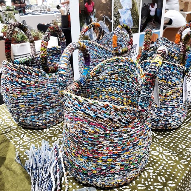 We're at Marrickville markets until 4 in the big hall with a pile of recycled G-lish baskets. Come say hi 🎄😘. . . . . .  #interiordesignideas #makersmovement #handsandhustle #makersgonnamake #creativehappylife #interiordesignideas #mycreativebiz #bolgabaskets #textileart #weaving #fiberart #textiledesign #handmadeau #interiorstyling #interior_design #interiordecorating #socent #homedecoration #ghana #interiorstyle #interiordesigner #reallivingmag #sydneylife #ilovesydney #lmbdw #recycled #waronwasteau