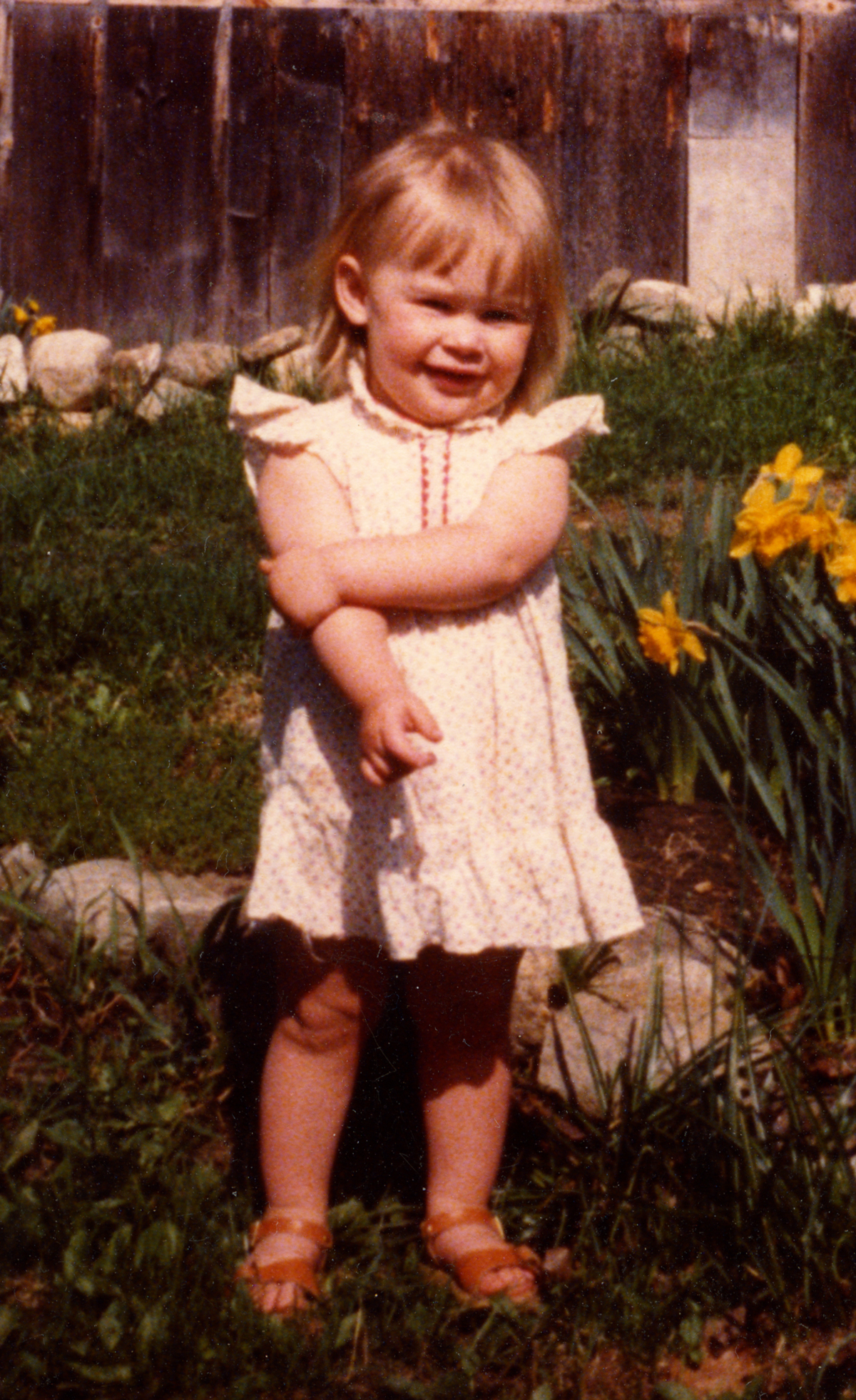 The pretty dress I would not take off as a toddler