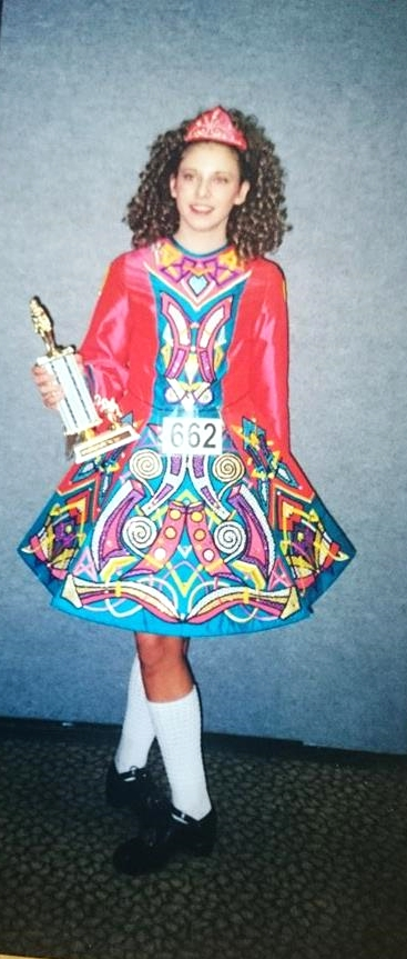 This was my second Irish dancing dress-age 16