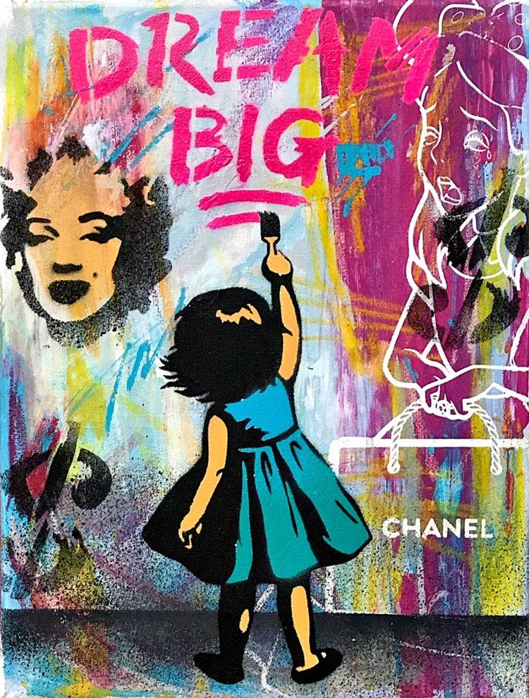 "Title: ""Hagan Brothers Dream Big #2"" Artist: AJ Lavilla x Hagan Brothers Size: 9x12 inches Series: Holiday Drop 2017"