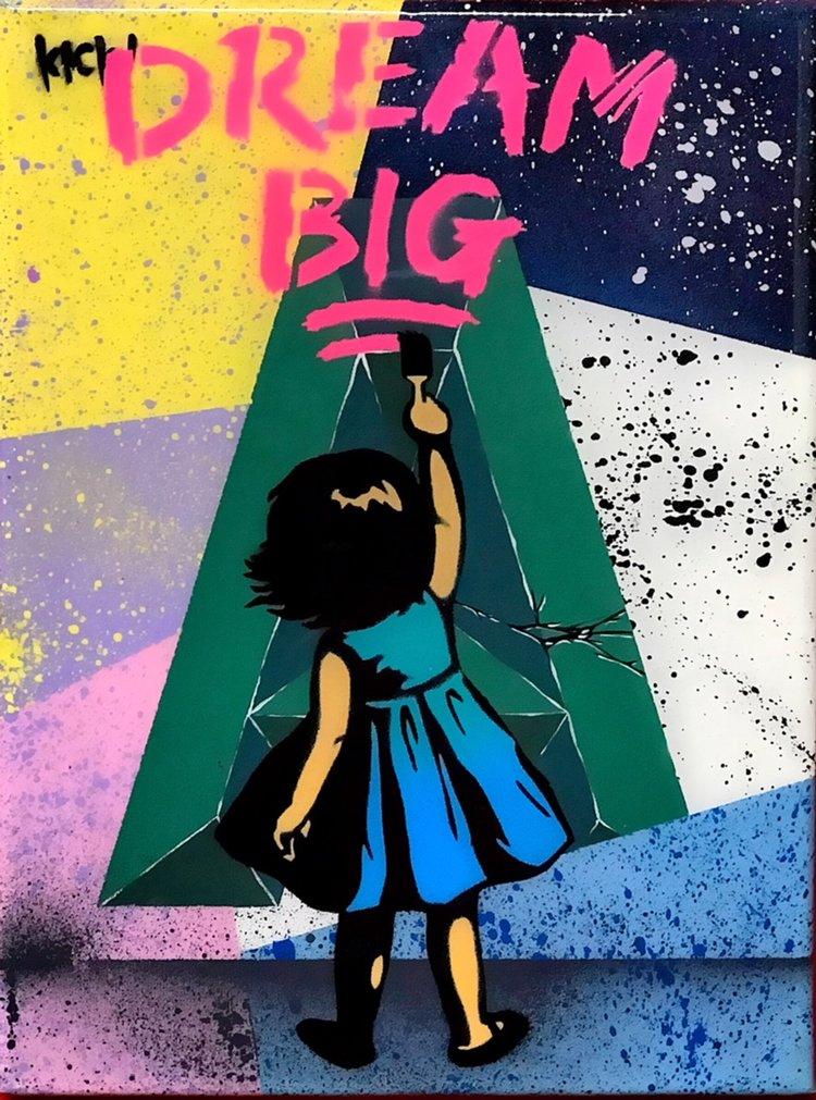 """Title: """"Kick Dream Big #4"""" Artist: AJ Lavilla x Kick Size: 9x12 inches Series: Holiday Drop 2017"""