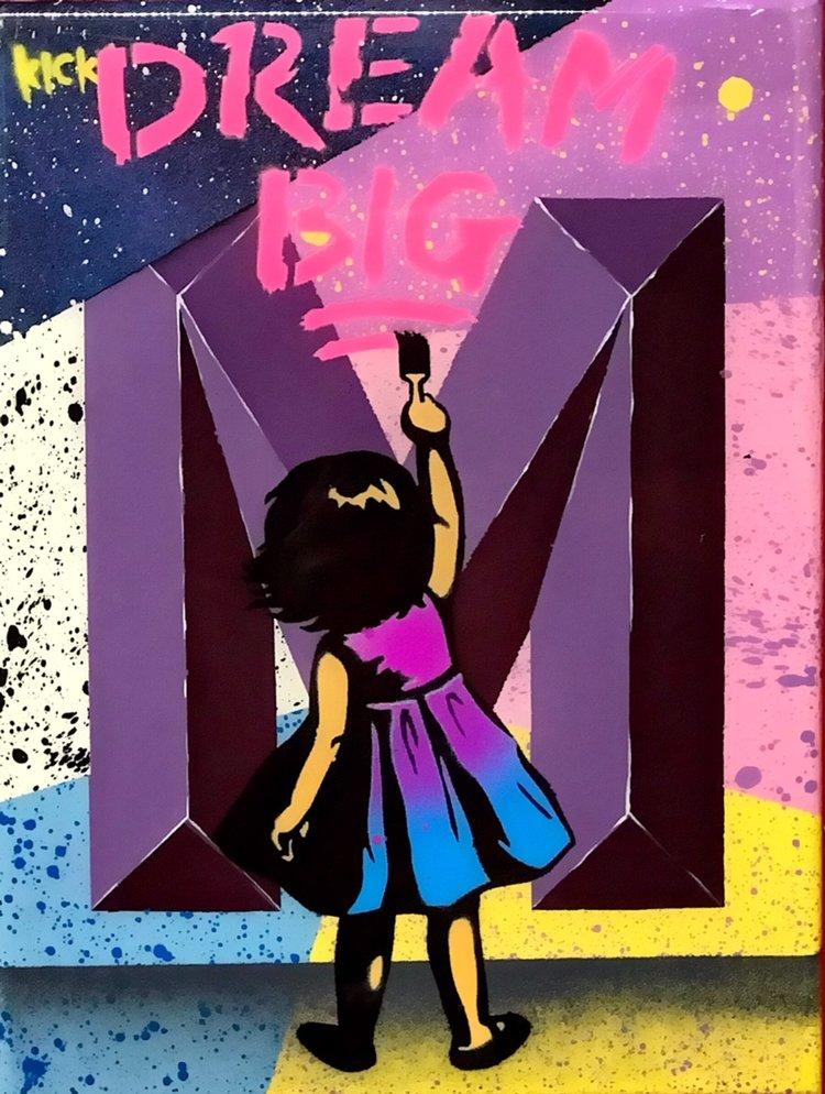 """Title: """"Kick Dream Big #5"""" Artist: AJ Lavilla x Kick Size: 9x12 inches Series: Holiday Drop 2017"""