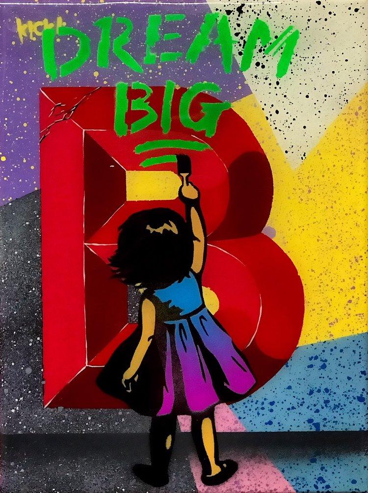 """Title: """"Kick Dream Big #6"""" Artist: AJ Lavilla x Kick Size: 9x12 inches Series: Holiday Drop 2017"""